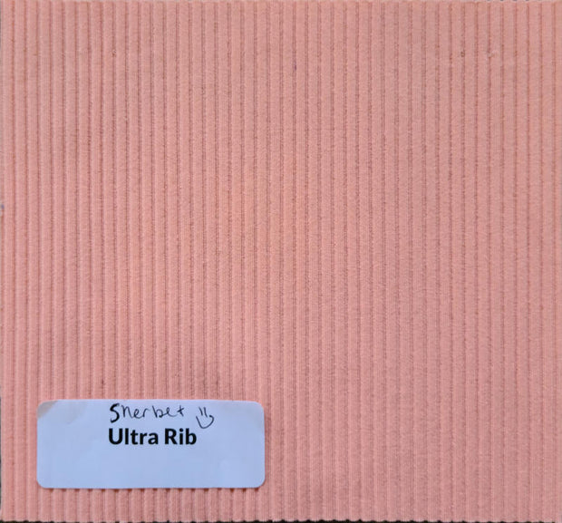 Sherbet Ribbed Nylon Spandex Swimsuit Fabric