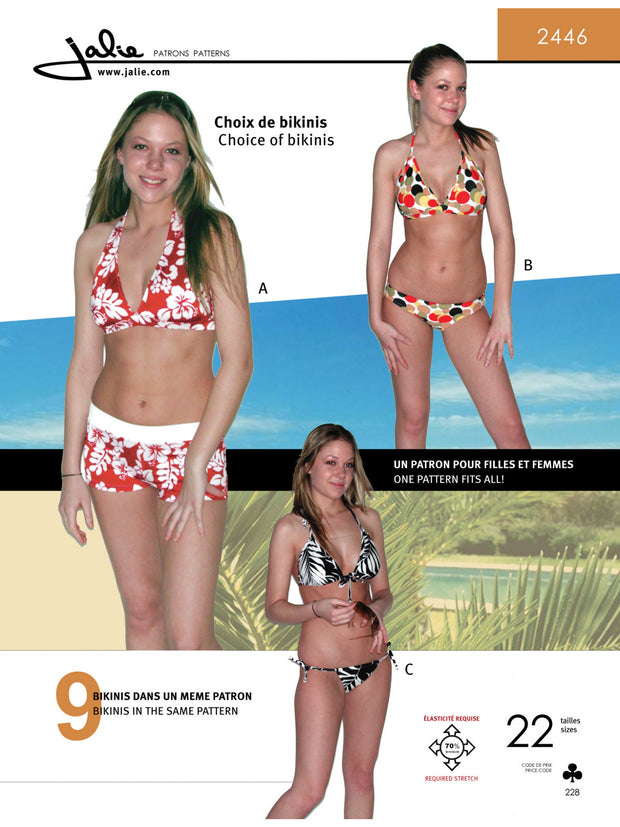 Mix n' Match Bikinis Sewing Pattern by Jalie