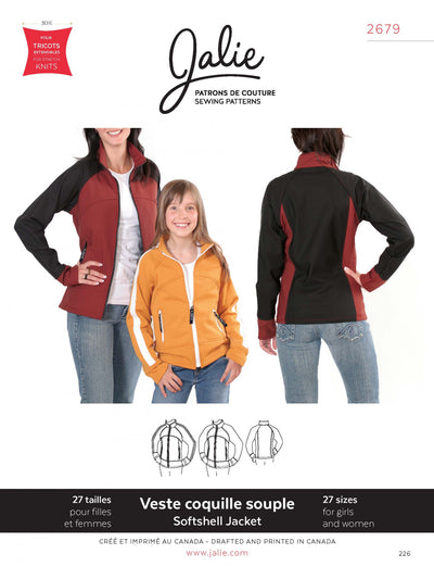 Stretch Softshell Jacket Sewing Pattern by Jalie