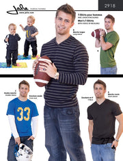 Men's T-Shirts Sewing Pattern by Jalie