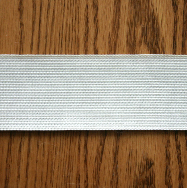 "2"" Wide White Classic Braided Elastic Trim"