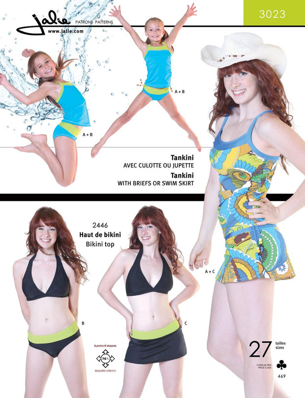 Tankini/Skirtini Sewing Pattern by Jalie