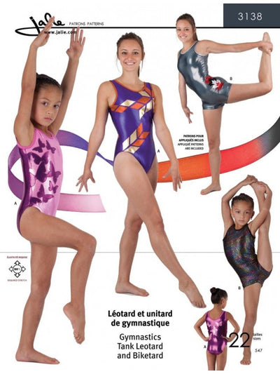 Gymnastics Tank Leotard and Biketard Sewing Pattern by Jalie