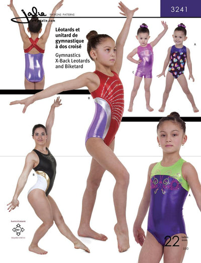 X-Back Gymnastics Leotards and Biketard Sewing Pattern by Jalie