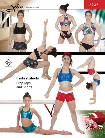 Crop Tops and Shorts Sewing Pattern by Jalie