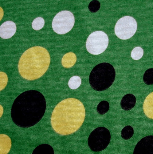 "Retro Bubble Dot Cotton Knit Fabric by Anita G - 23"" Remnant Piece"
