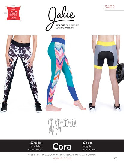 Cora Leggings Sewing Pattern by Jalie