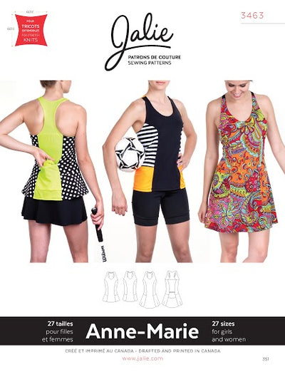 Anne-Marie Tanks and Dress Sewing Pattern by Jalie