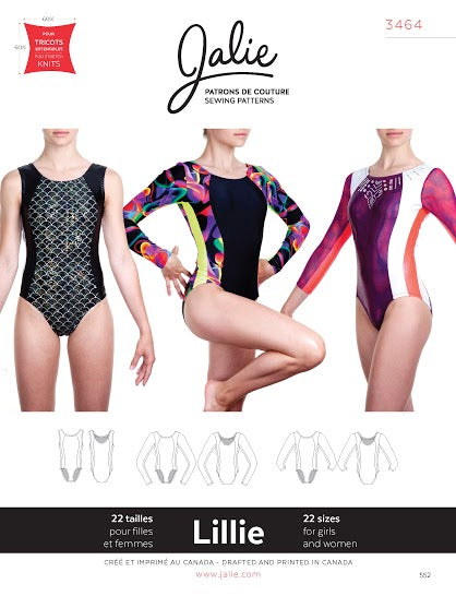 Lillie Gym Leotards Sewing Pattern by Jalie