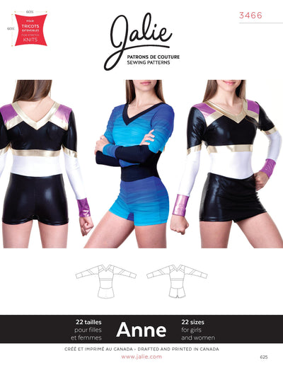 Anne Cheerleading Uniform Sewing Pattern by Jalie