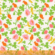 Calico Cotton Knit Fabric by Heather Ross, Pink Colorway