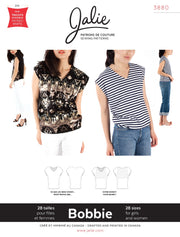 Bobbie V-Neck Top Sewing Pattern by Jalie