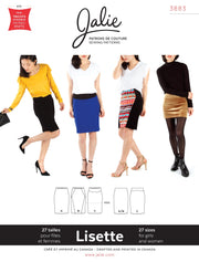 Lisette Pull-On Pencil Skirt Sewing Pattern by Jalie