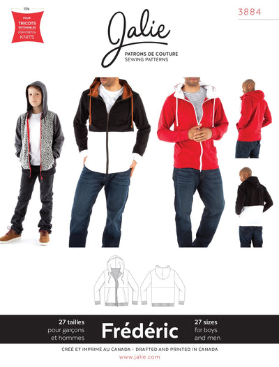 Frederic Hoodie Sewing Pattern by Jalie
