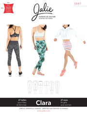 Clara High-Waisted Leggings Sewing Pattern by Jalie