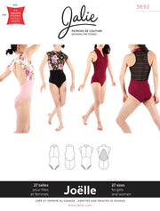Joelle Half Zip Leotard Sewing Pattern by Jalie