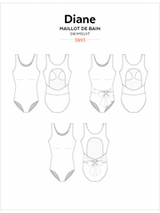 Diane Tank Swimsuit Sewing Pattern by Jalie