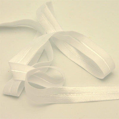 White Fold-Over Elastic Trim