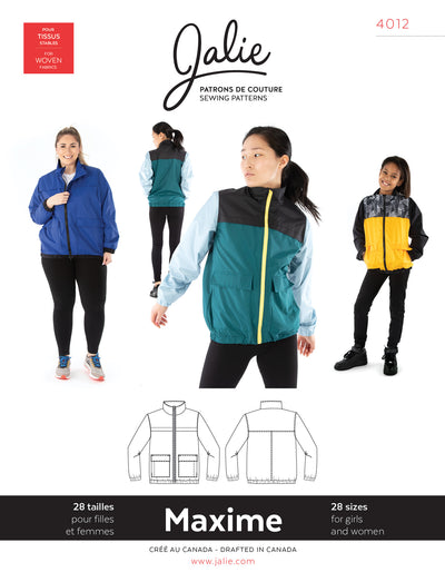 Maxime Three-Season Jacket Sewing Pattern by Jalie