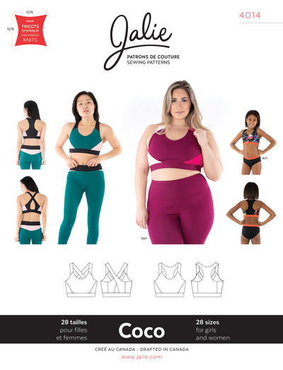 Coco Sport Bra Sewing Pattern by Jalie