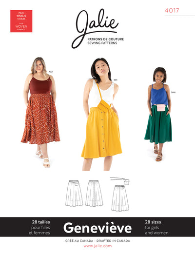 Genevieve Pull-on Gathered Skirt Sewing Pattern by Jalie