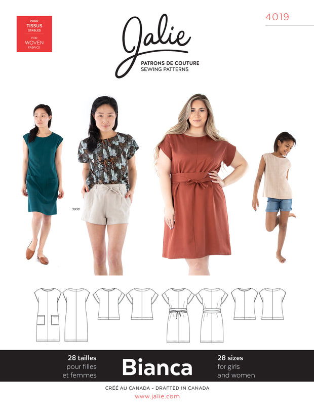 Bianca Dress and Top Sewing Pattern by Jalie
