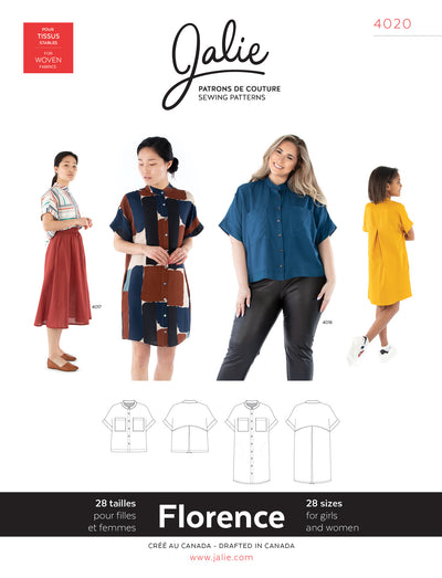 Florence Shirt and Shirtdress Sewing Pattern by Jalie