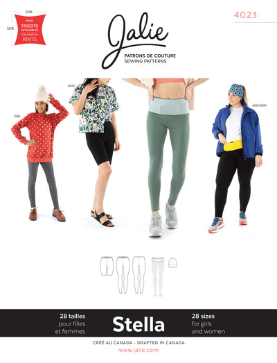 Stella Leggings, Running Belt, and Beanie Sewing Pattern by Jalie