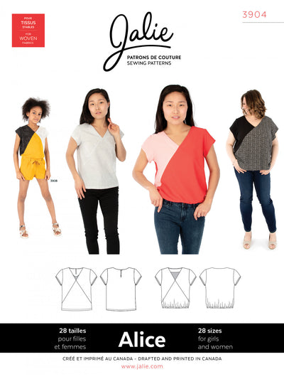 Alice V-Neck Blouse Sewing Pattern by Jalie
