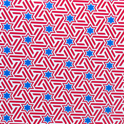 Americana Stars and Stripes Poly Spandex Swimsuit Fabric