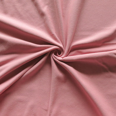Blush Rose 10 oz. Cotton Lycra Jersey Knit Fabric