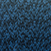 Black Chevrons on Cadet Blue Poly Spandex Knit Fabric