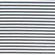 Black Double Stripe on White Nylon Spandex Swimsuit Fabric