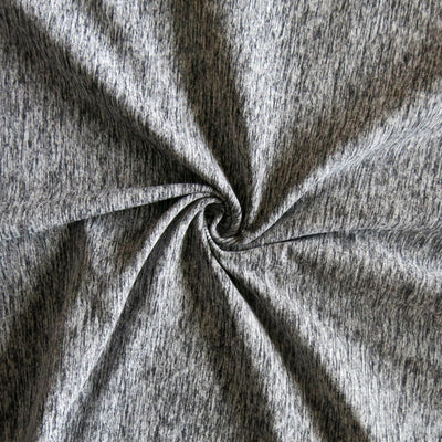 Grey/Black Eclat Marl Poly Spandex Jersey Knit Fabric