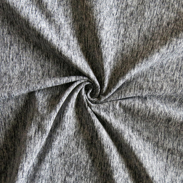 Grey/Black Marl Poly Spandex Jersey Knit Fabric