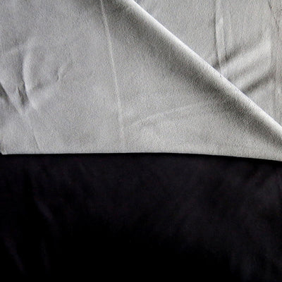 Black/Grey Softshell Fleece Fabric