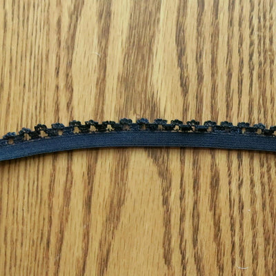 Black Picot Decorative Elastic Trim