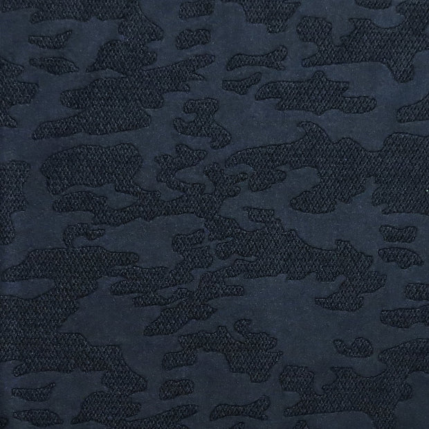 Black Textured Camo on Black Nylon Spandex Swimsuit Fabric