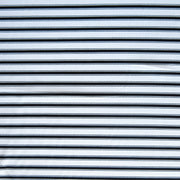 Black and White Double Stripe Nylon Spandex Swimsuit Fabric