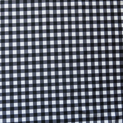 Black and White Gingham Nylon Spandex Swimsuit Fabric