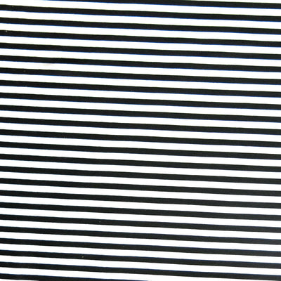 Narrow Black and White Stripes Nylon Spandex Swimsuit Fabric