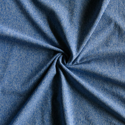 Blueberry Fizz Marl Poly Lycra Jersey Knit Fabric