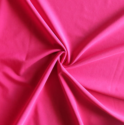 Bright Pink Stretch Woven Fabric