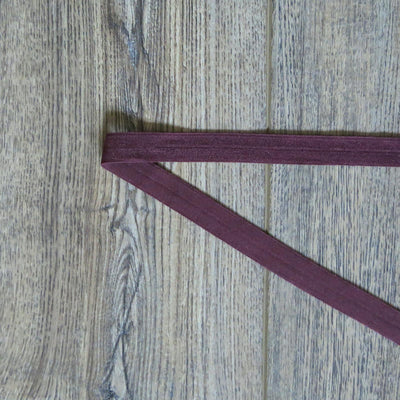 Burgundy Fold Over Elastic Trim