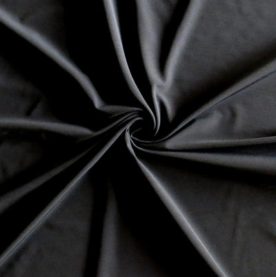 Carbon Black Ultralight Poly Lycra Tricot Fabric