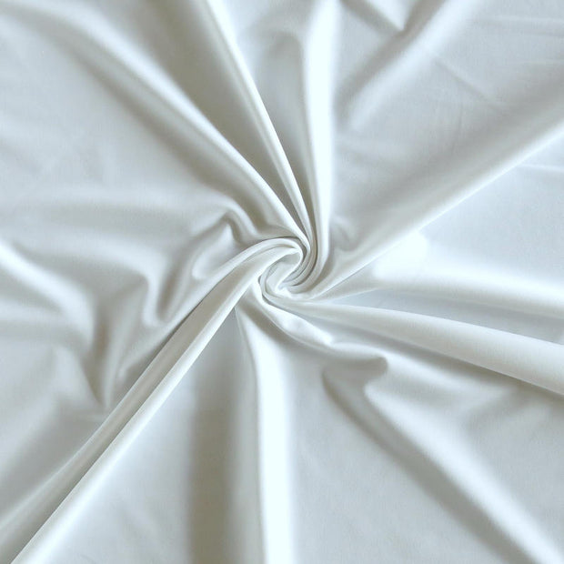 Carbon White Ultralight Poly Lycra Tricot Fabric