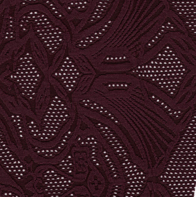 Carbon Merlot Floral Poly Lycra Mesh Fabric