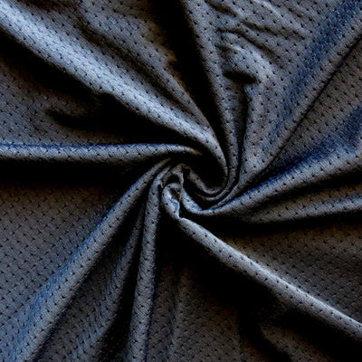 Carbon Black Pinhole Poly Lycra Mesh Fabric