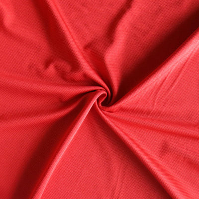 Challenge Red Diamond Poly Spandex Tricot Fabric