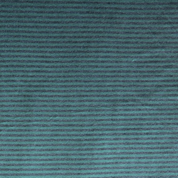 Charcoal and Green Micro Stripe Bamboo Lycra Knit Fabric